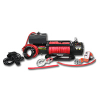 Rhino 4X4 9,500lb Winch with Dyneema Rope & Wireless Remote