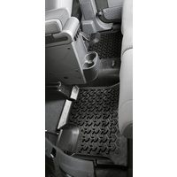 Rugged Ridge Floor Liner, Rear 1-Pc, Black, 2007 on Wrangler Unlimited JK 4 DR