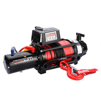 Runva 13XP 12V Winch Black Premium Edition with Dyneema Rope