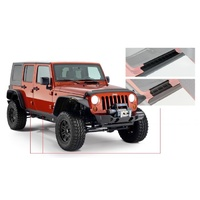 Bushwacker Trail Armor Rocker Panel & Sill Plate - Pair Matte Black