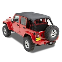 Bestop Header Safari Bikini Tops for JK Wrangler 4DR 2007+