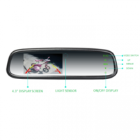 Premium OEM Style 4.3� Replacement Mirror with Auto Brightness
