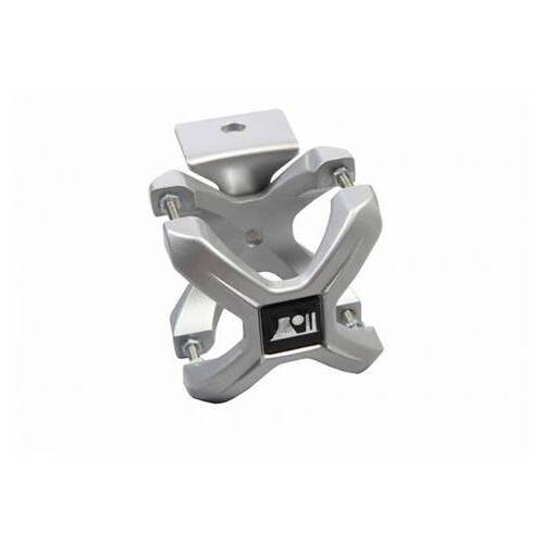 "Rugged Ridge X-Clamp 2.25"" - 3"", Silver (Pair)"