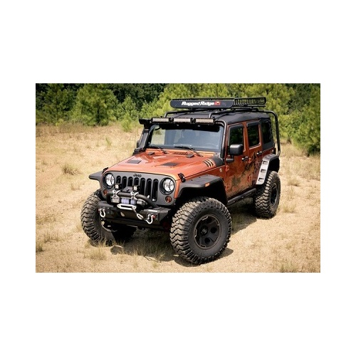 Rugged Ridge Hurricane Flat Fender Flare Kit - JK Wrangler 2007 on