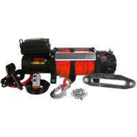 Rhino 4X4 12,500lb Winch with Dyneema Rope & Wireless Remote