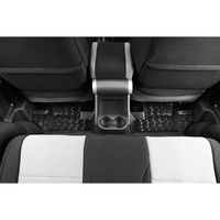 Rugged Ridge Floor Liner, Rear Pair Black - JK Wrangler 2007 on 2 DR