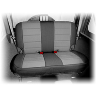 Neoprene Rear Seat Cover, Black & Gray, 07-13 Jeep Wrangler (JK)