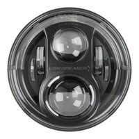 "J.W. Speaker 7"" LED Headlights 8700 Evolution J for JK Wrangler - Black (Pair)"
