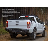 Rival Alloy Rear Bumper Bar Ford Ranger PX1 PX2 PX3