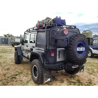 Uneek Rear Bumper bar w/ optional Tyre Carrier for JK Wrangler