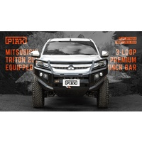 PIAK 3 Loop Elite Front Bull Bar - Mitsubishi Triton MR 2019+