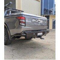 PIAK Premium Rear Step Bar Tow bar with Side Protection - Mitsubishi MQ Triton 2015-2018