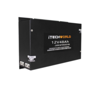 iTech World 12V 48AH Lithium Ion Slim Battery Lifepo4 Deep Cycle