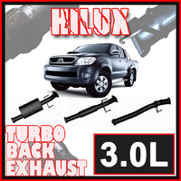 "Ignite 3"" Turbo Back Exhaust - Toyota Hilux KUN Series 3.0L T/D 2005 to 2015"