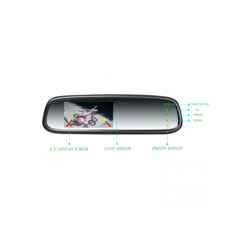Premium OEM Style 4.3in Replacement Mirror with Auto Brightness